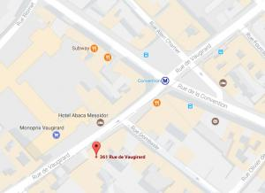 Location de Parking abrité : 361 Rue de Vaugirard, 75015 Paris, France